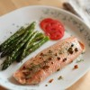 Broiled Salmon with Asparagus